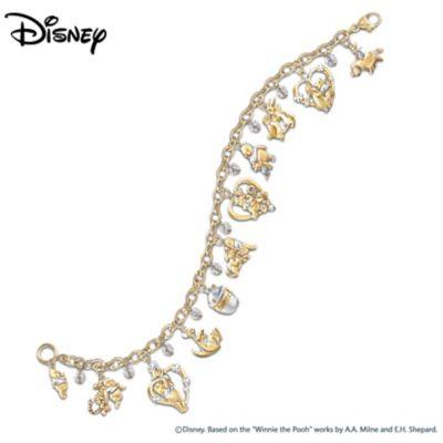 Winnie The Pooh & Friends Swarovski Crystal Charm Bracelet by
