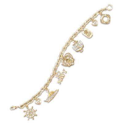 Navy Pride Charm Bracelet U S Navy Jewelry Gift
