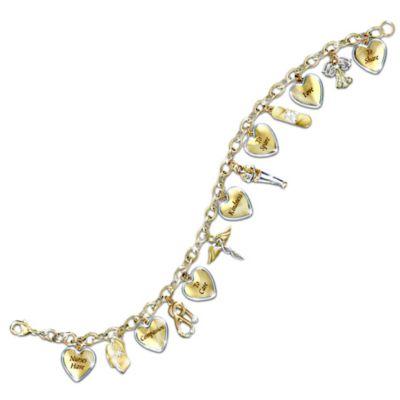 Nurses Tribute Engraved Crystal Charm Bracelet by