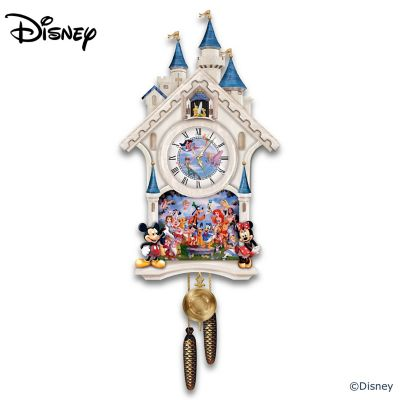 Cinderella Castle Wall Clock With 40 Friends by