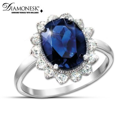 Royal Inspiration Diamonesk Ring Inspired By Princess Diana by