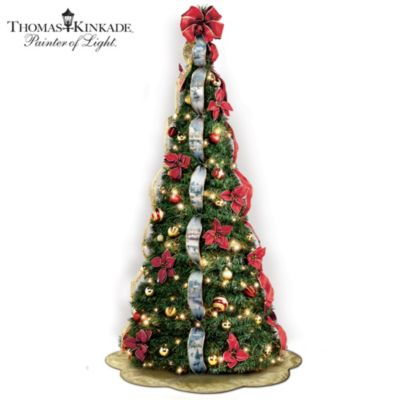First-Ever Thomas Kinkade 6' Pre-Lit Pull-Up Christmas Tree by