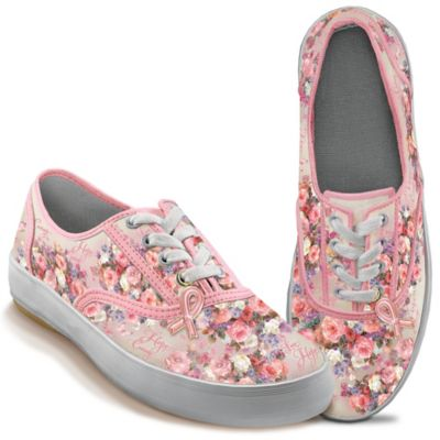 Lena Liu Breast Cancer Support Sneakers by