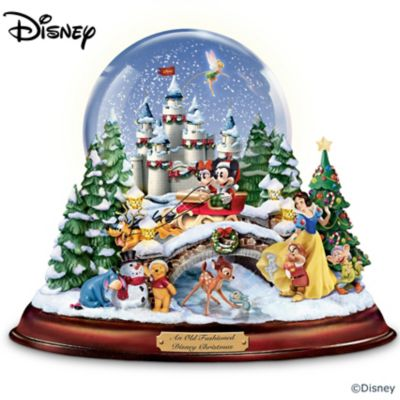 An old fashioned disney christmas musical snowglobe for Disney weihnachtskugeln