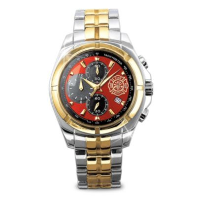 Stainless Steel Firefighter Chronograph Men's Watch by
