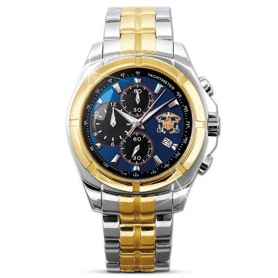 U.S. Navy Tribute Chronograph Watch With Presentation Case by
