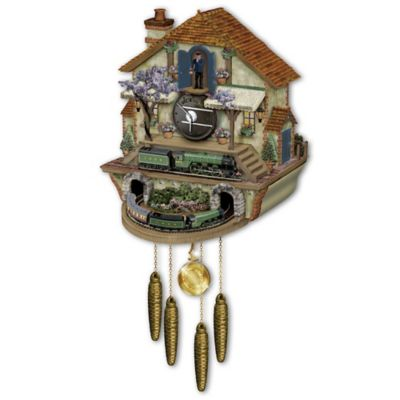 Steam engine train cuckoo clock the flying scotsman memories of steam - Motorcycle cuckoo clock ...