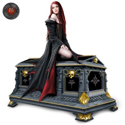 Gothic Vampire Queen And Crypt Music Box by
