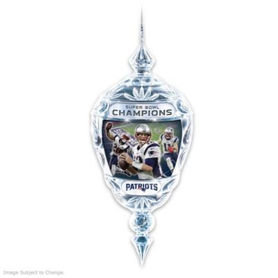 Patriots Super Bowl LI Champions Crystal Ornament by