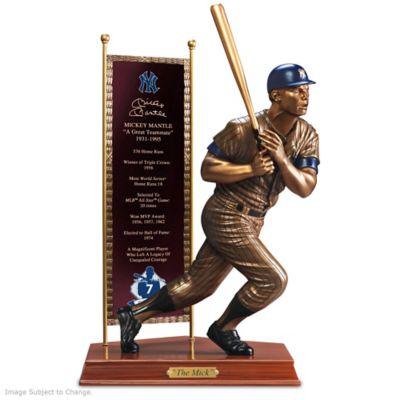 MICKEY MANTLE Commemorative Cold-Cast Bronze Sculpture by