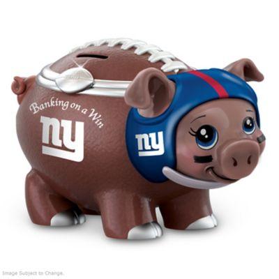 New York Giants Porcelain Football Piggy Bank At Beautiful
