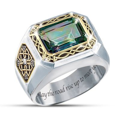 Mystic Topaz Mens Ring The Legend Of Ireland