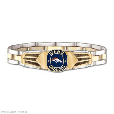 Denver Broncos Men's Stainless Steel Bracelet by