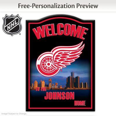 Nhl 174 Detroit Red Wings 174 Personalized Welcome Sign