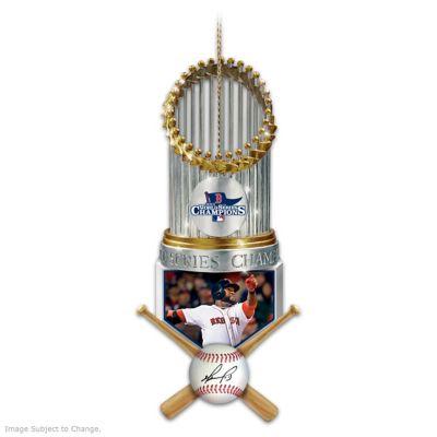 Red Sox 2013 World Series Champions David Ortiz Ornament by