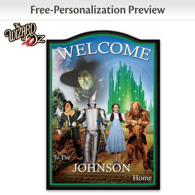 Wizard Of Oz Wooden Welcome Sign Personalized With Your Name by