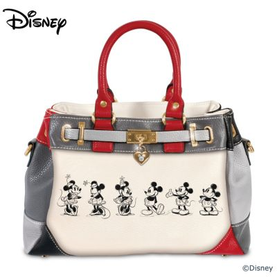 Disney Mickey Mouse And Minnie Mouse Love Story Handbag by