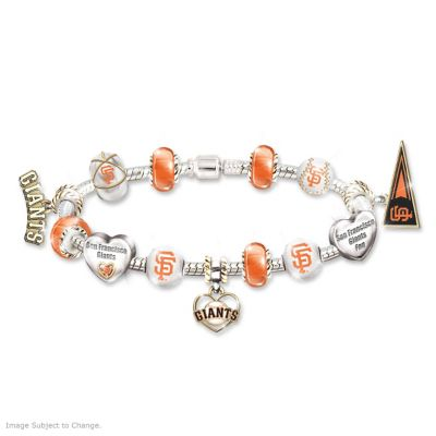 Giants 2012 World Series Champs Beaded Charm Bracelet by