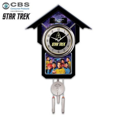 STAR TREK Wall Clock With Sound And Animation by