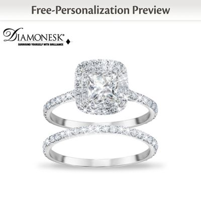 Womens Ring A Love Like No Other Personalized Bridal Ring Set