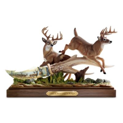 Persis Clayton Weirs Deer Art Porcelain Knife Sculpture by