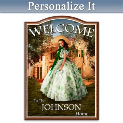 Gone With The Wind Welcome Sign Personalized With Name by