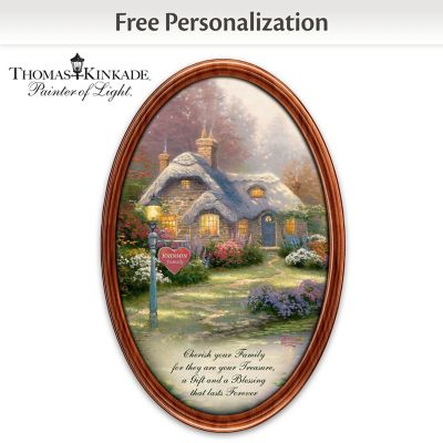 Thomas Kinkade Family Treasures Plate With Your Family Name by