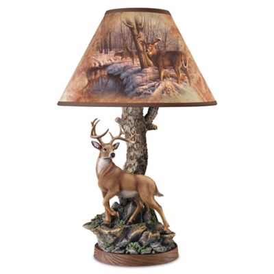 Greg Alexander Whitetail Majesty Accent Lamp With