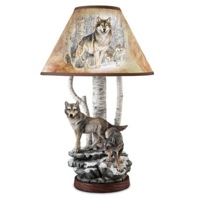 Al Agnew Spirits Of The Forest Table Lamp by