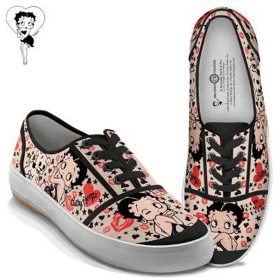 Betty Boop Retro Art Women's Canvas Sneakers by