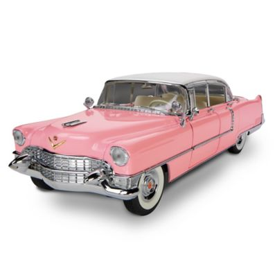 1:12-Scale Elvis Presley 1955 Pink Cadillac Sculpture by
