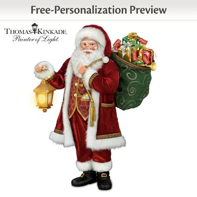 Personalized Santa Lights Up With Thomas Kinkade's Recording by