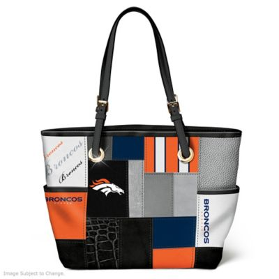 Broncos For The Love Of The Game Tote Bag With Team Logos by