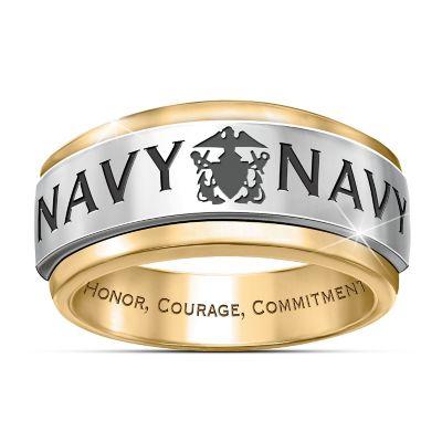 Ring Navy Honor Mens Spinning Ring