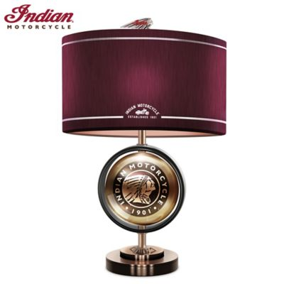 Indian Motorcycle Cold-Cast Bronze Accent Lamp by