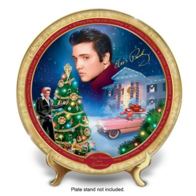 Elvis Presley Merry Christmas From Graceland Collector Plate by