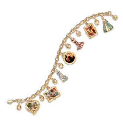 Gone With The Wind Charm Bracelet With Swarovski Crystals by
