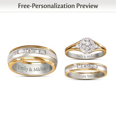 Together Forever Customized His & Hers Diamond Wedding Rings by