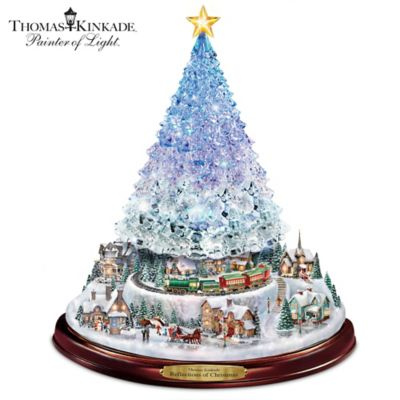 Thomas Kinkade Christmas Tree With Lights, Motion and Music by