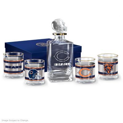 Chicago Bears Five-Piece Decanter And Glasses Set by