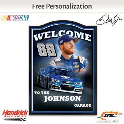 Dale Earnhardt Jr. Welcome Sign Personalized With Name by