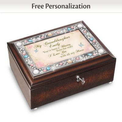 Music Box With Granddaughter's Name In Sentiment by