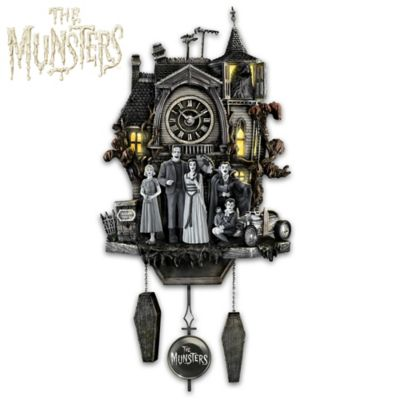The Munsters Illuminated Musical Wall Clock by