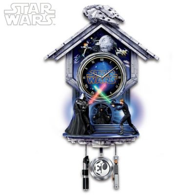 STAR WARS Sith Vs. Jedi Wall Clock With Light-Up Lightsabers by