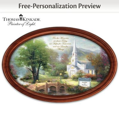 Thomas Kinkade Love For Always Collector Plate With 2 Names by