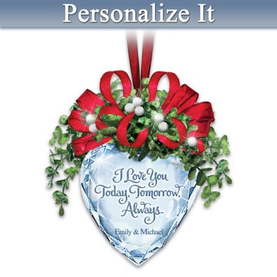 A Kiss For Today, Tomorrow, Always Personalized Ornament by