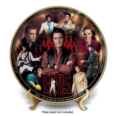 Elvis 80th Anniversary Masterpiece Collector Plate by