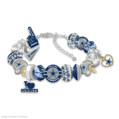 fashionable fan dallas cowboys nfl charm bracelet. Black Bedroom Furniture Sets. Home Design Ideas