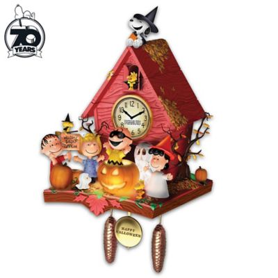PEANUTS Halloween Party Wall Clock With Lights And Music by
