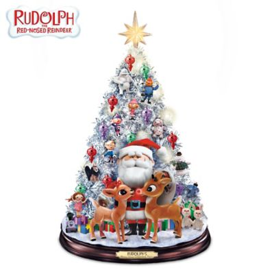 Rudolph's Holly Jolly Christmas Tree With Lights And Music by